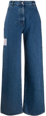 GCDS High-Rise Wide-Leg Jeans