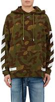 "Off-White Men's ""Seeing Things"" Camouflage Cotton Hoodie"