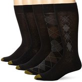 Gold Toe Men's Argyle Assorted Crew Socks, Five Pairs