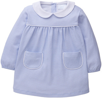 Little English Girl's Evelyn Gingham Collared Dress, Size 18M-6