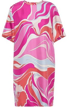 Emilio Pucci Printed Silk-twill Mini Dress