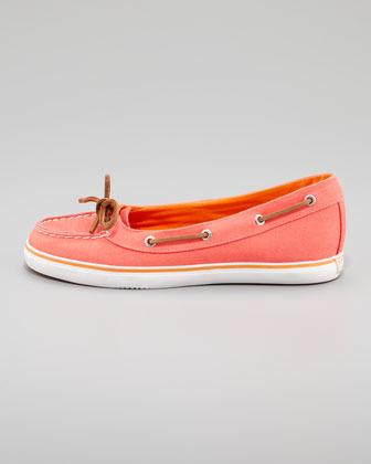 Sperry Lola Canvas Slip-On Sneaker, Neon Salmon