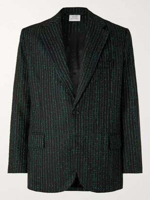 Vetements Virgin Wool-Blend Jacquard Blazer