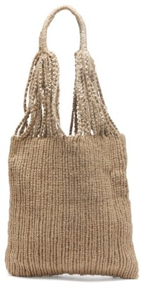 LAUREN MANOOGIAN Macrame Linen Tote Bag - Cream