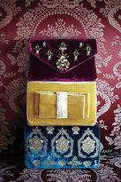 Anthropologie Jeweled Velvet Clutch