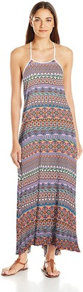 Jessica Simpson Women's Versailles Rayon Strap Back Cover-up Dress