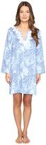 Oscar de la Renta Printed Cotton Sateen Sleepshirt Women's Pajama