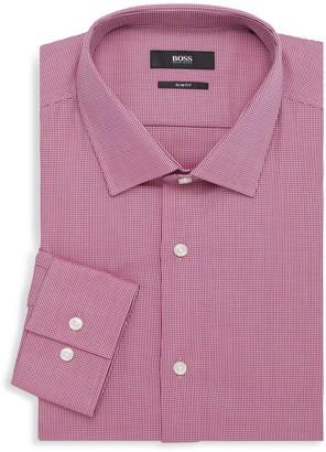 HUGO BOSS Jenno Slim-Fit Check Dress Shirt