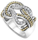 Lagos Large Newport Diamond Knot Ring, Size 7