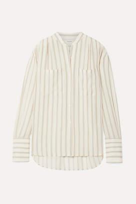 Frame Oversized Striped Gauze Shirt - Off-white