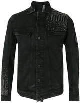 11 By Boris Bidjan Saberi embroidered back denim jacket - men - Cotton/Spandex/Elastane - S
