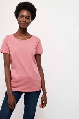 Next Womens Dusty Pink Crew Neck T-Shirt - Pink