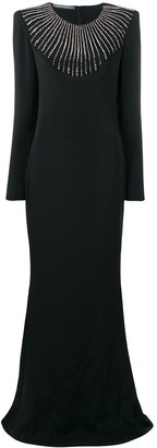 Alberta Ferretti Embellished Evening Dress