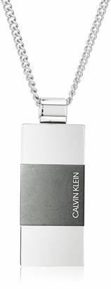 Calvin Klein Men's Strong Bi-Color Stainless Steel Pendant Necklace