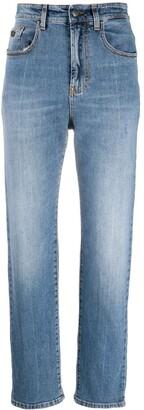 Palm Angels Indaco Straight Leg 5 Pockets Medium Blu