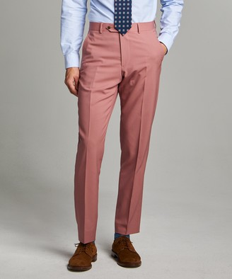 Todd Snyder Black Label Sutton Wool Gabardine Suit Trouser in Mauve