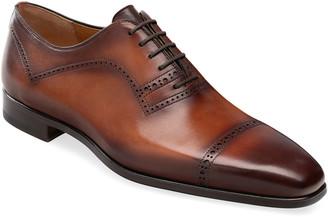 Magnanni Men's Hogan Brogue Leather Oxford Shoes