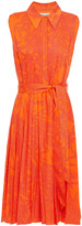 Thumbnail for your product : Diane von Furstenberg Harmony Belted Printed Voile Dress