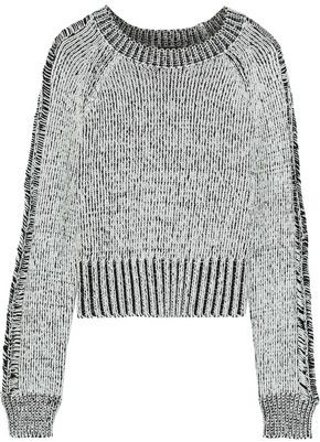The Range Storm Cropped Marled Cotton Sweater