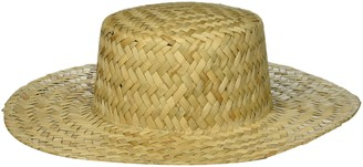 Ale By Alessandra Women's Remy Woven Straw Boater Sunhat Packable & Adjustable