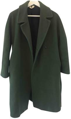 Arket Green Wool Coat for Women