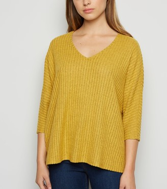 New Look Brushed Rib Knit Batwing Jumper