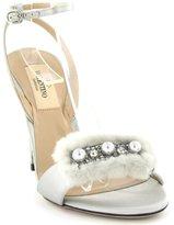 Valentino Fur And Pearls Sandal