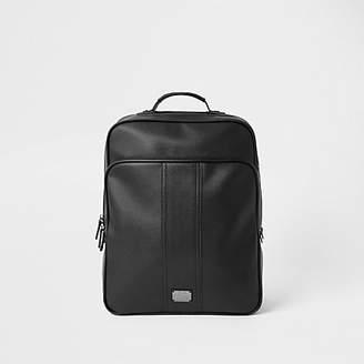 River Island Black square RVR backpack