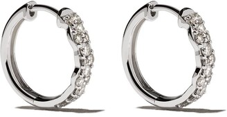 Astley Clarke 14kt white gold diamond Medium Interstellar hoops