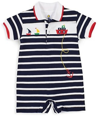 Florence Eiseman Baby Boy's Striped Tugboat Shortalls