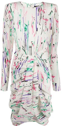 Isabel Marant Abstract-Print Draped Midi Dress