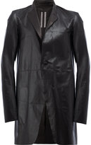 Rick Owens single-breasted coat - men - Leather - 48
