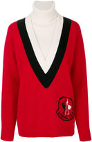 Moncler Gamme Rouge logo patch sweater