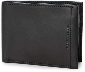 Perry Ellis Portfolio Black Leather Bi-Fold Passcase