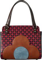 Orla Kiely Jeanette Leather Flower Foulard Bowler Bag, Multi
