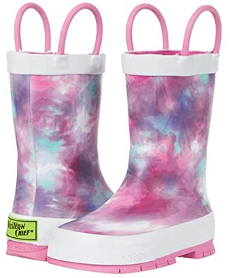 Western Chief Tie-Dye Rain Boots (Toddler/Little Kid/Big Kid) (Fuchsia) Girl's Shoes