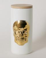 The Oracles Skeleton Skull Ceramic Canister