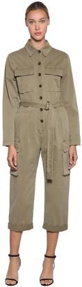 Frame Safari Cotton Canvas Jumpsuit