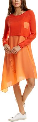 Tsesay 2Pc Layered Wool & Silk Dress