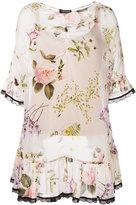 Twin-Set flared hem floral blouse - women - Cotton/Spandex/Elastane/Viscose - 44