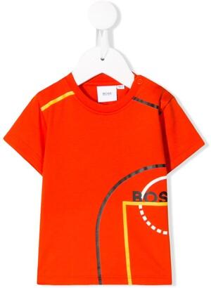 Boss Kids graphic logo T-shirt