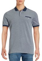 Ben Sherman Solid Cotton Polo Tee
