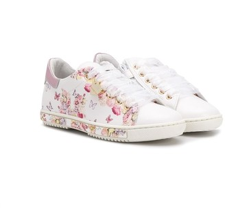 MonnaLisa Floral Low-Top Sneakers