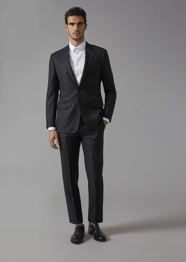 Giorgio Armani Wool And Silk Soft Line Suit