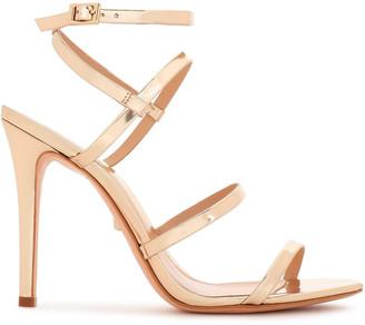 Schutz Ilara Mirrored-leather Sandals
