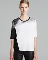 Helmut Lang Tee - Silver Print Jersey
