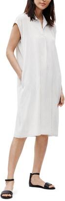 Eileen Fisher Stripe Silk Shirtdress