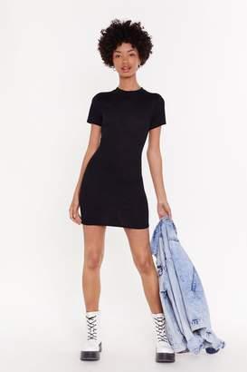 Nasty Gal Womens Got the Fit Factor Ribbed Mini Dress - black - 12