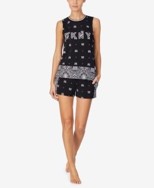 DKNY Women's Tank Top & Shorts Pajama Set