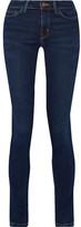 MiH Jeans Bodycon Mid-rise Skinny Jeans - Dark denim
